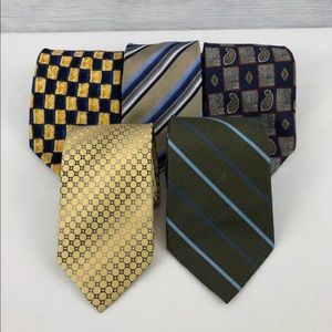 Lot Of 5 Neckties Geoffrey Beene ties